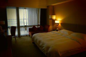 ベランダから太平洋が見える福容大飯店のお部屋