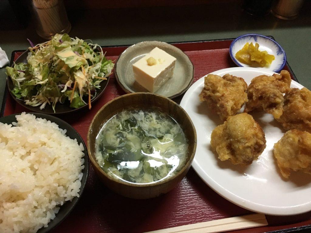 祥来の唐揚げ定食
