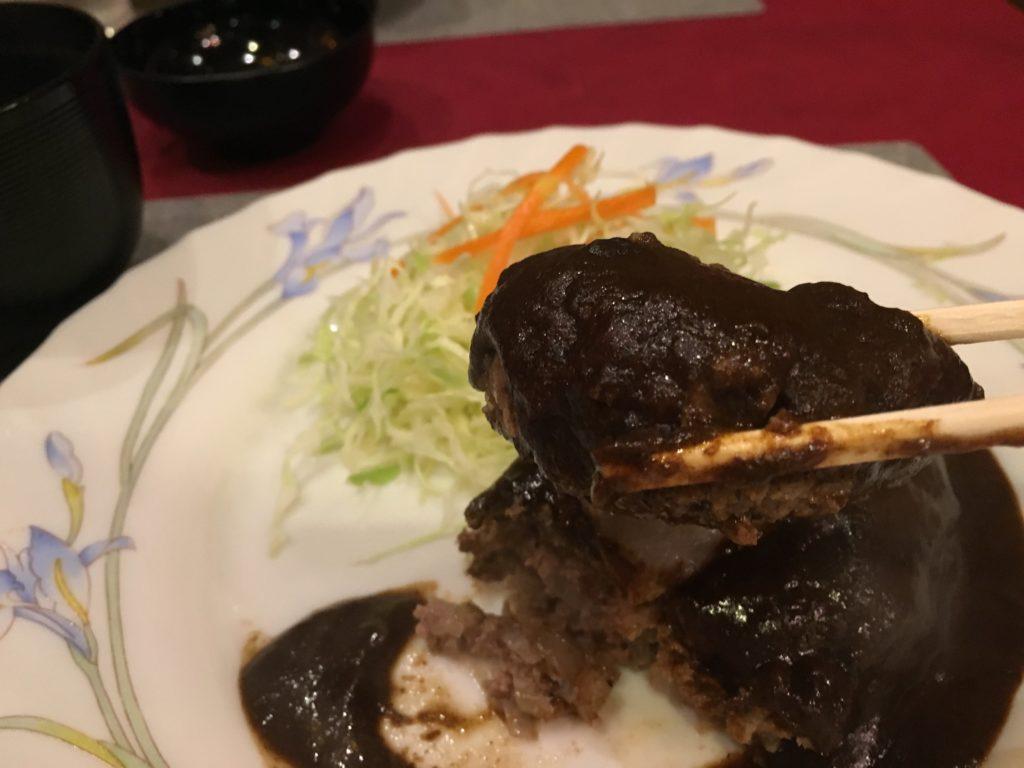 小松屋のハンバーグ実食