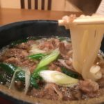 Daging mie udon dengan surumen