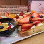 Топ фруктов Яобун Французский тост крупным планом