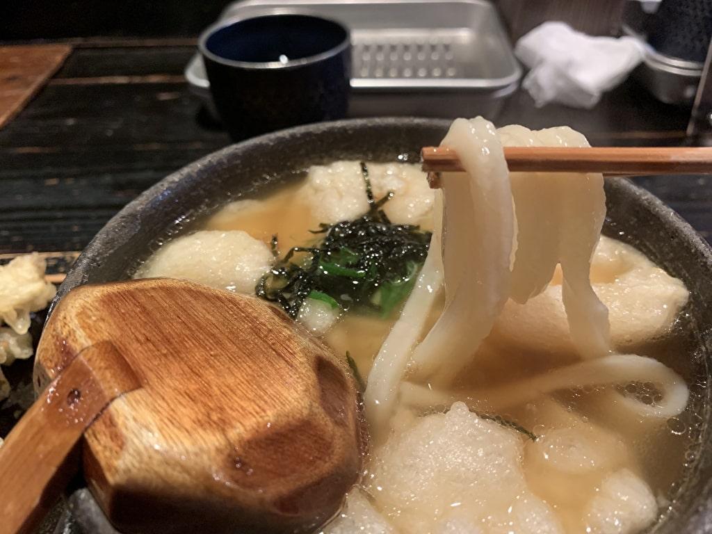山元麺蔵の揚げ餅うどん実食