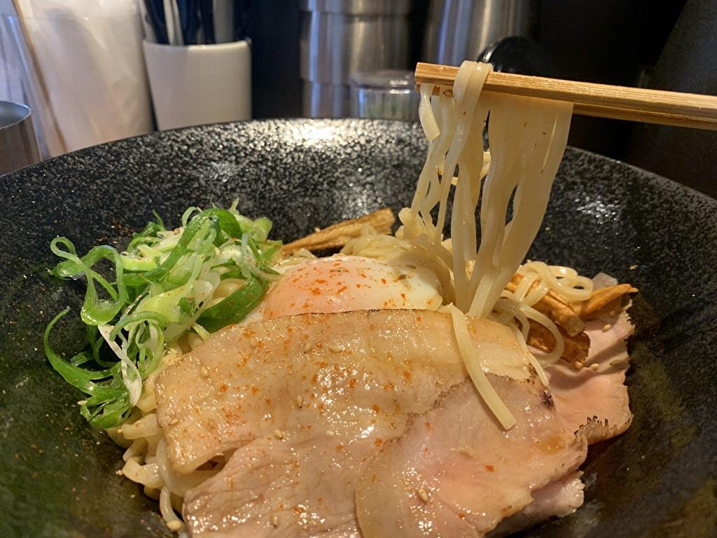 Japaneseまぜ麺MARUTAのまぜ麺実食