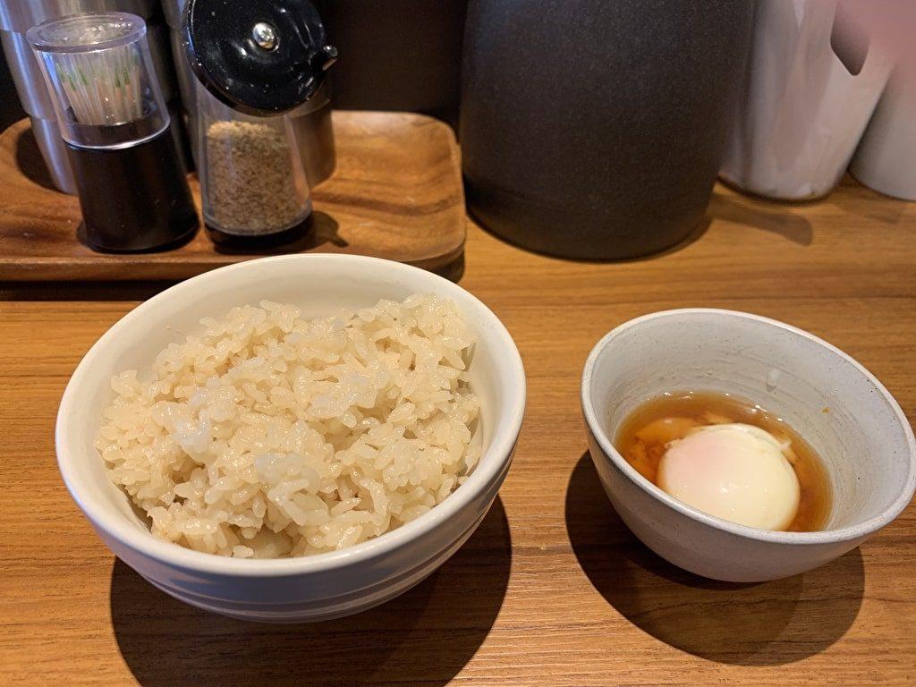 Japaneseまぜ麺MARUTAの卵かけご飯
