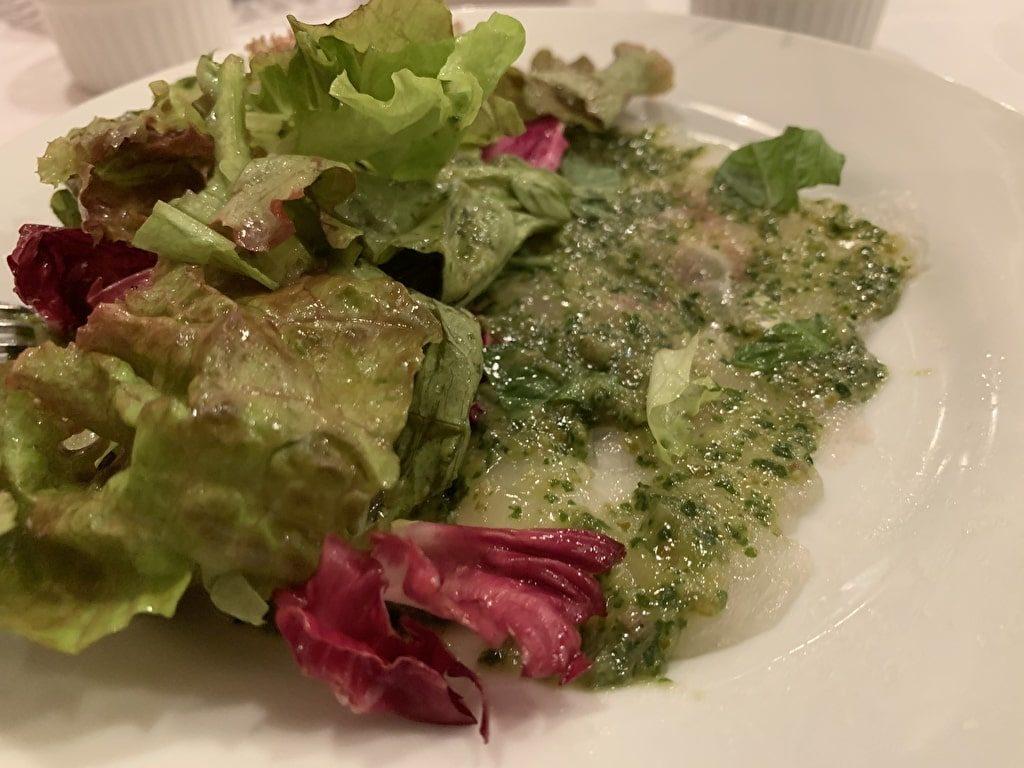 バジル風味サラダ実食