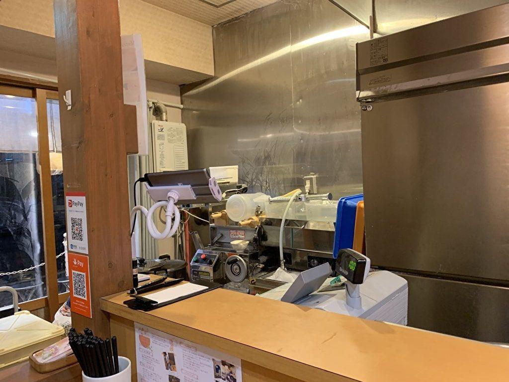 らーめん鶴武者の製麺スペース