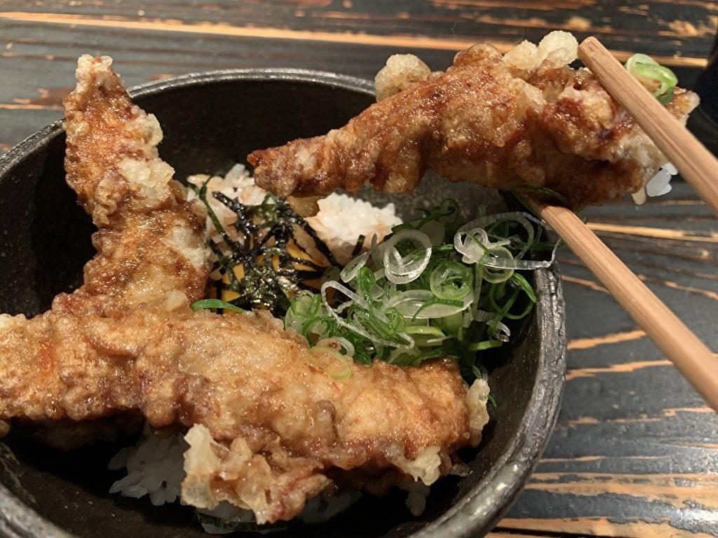 山元麺蔵の鶏ささみ天丼実食