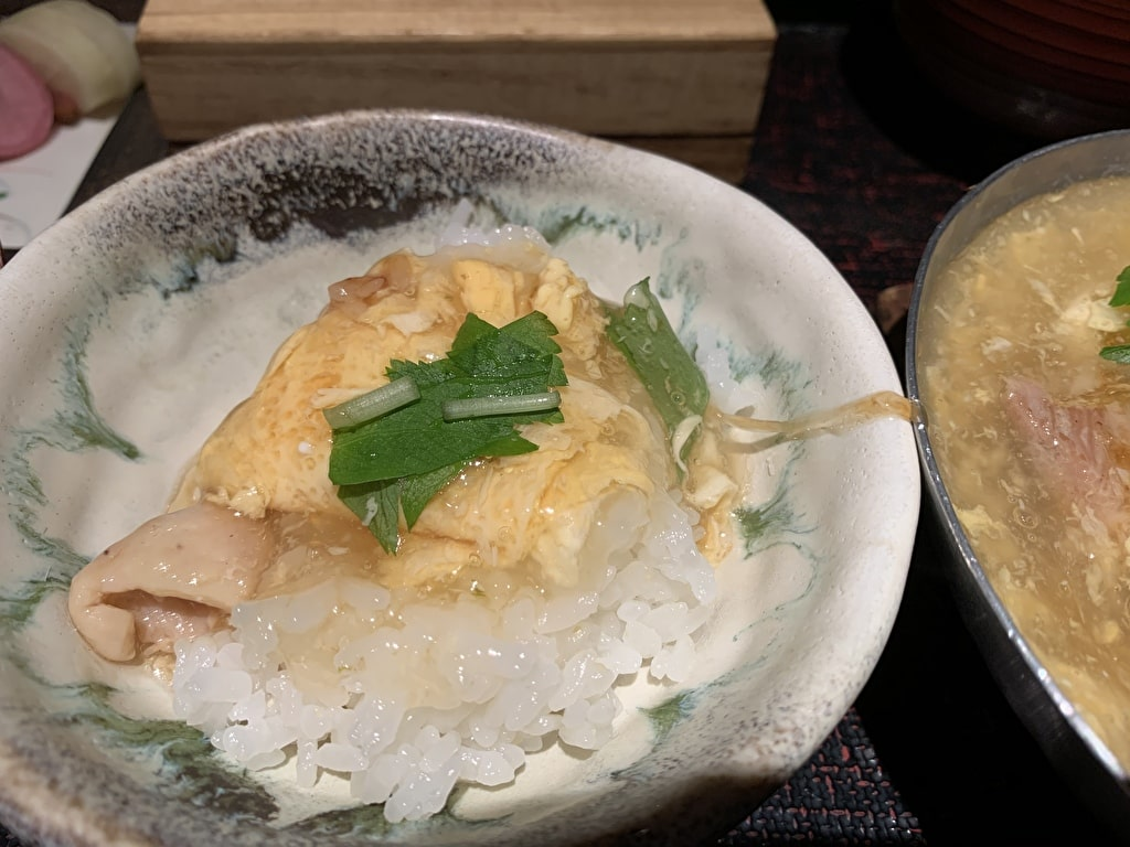 八代目儀兵衛の京のあんかけ親子丼の銀シャリ御膳実食