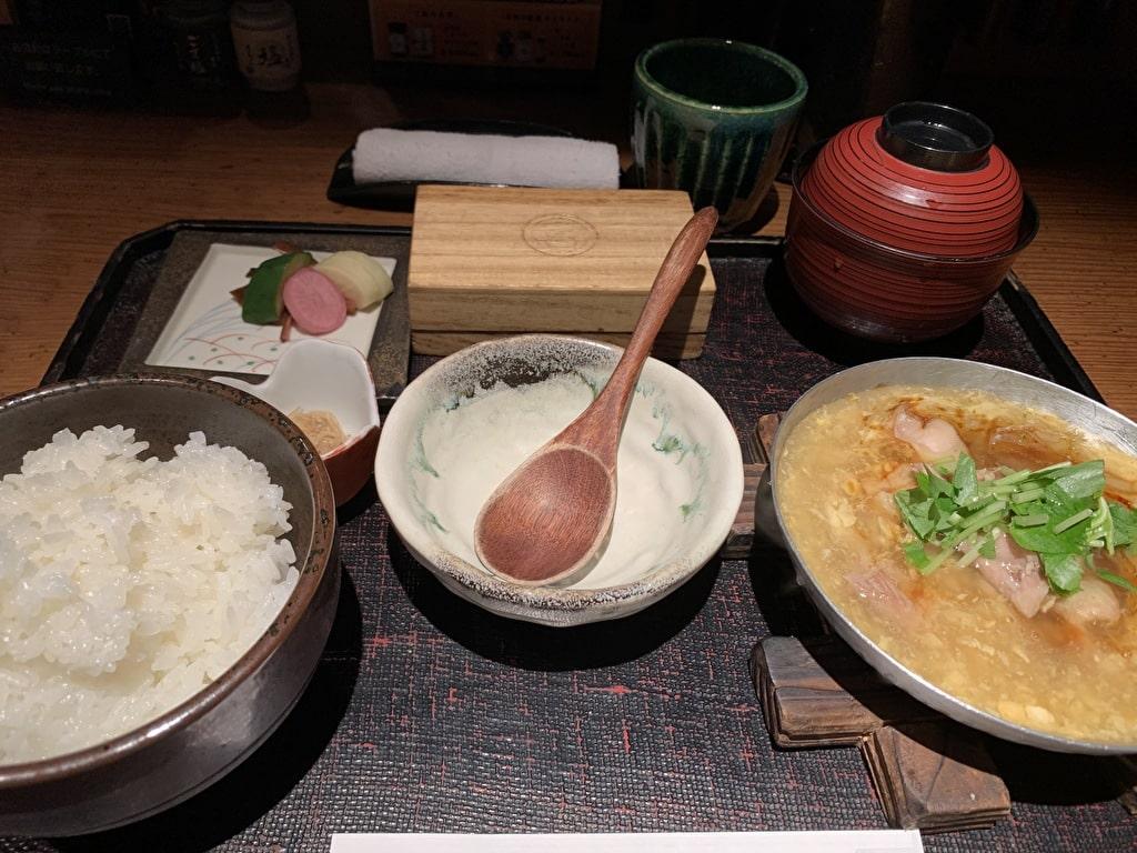 八代目儀兵衛の京のあんかけ親子丼の銀シャリ御膳