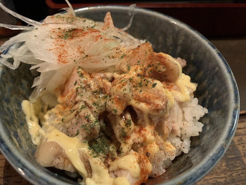 煮干そば藍の炙りチャーシュー丼