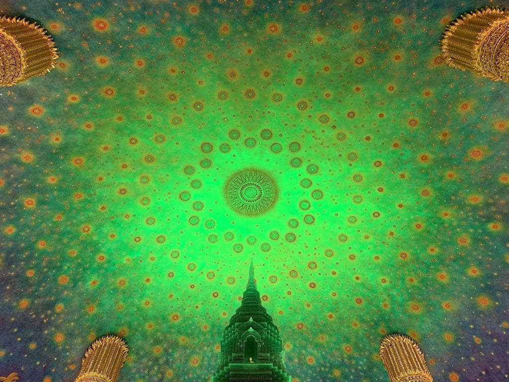 Pintura de techo de Wat Pak Nam