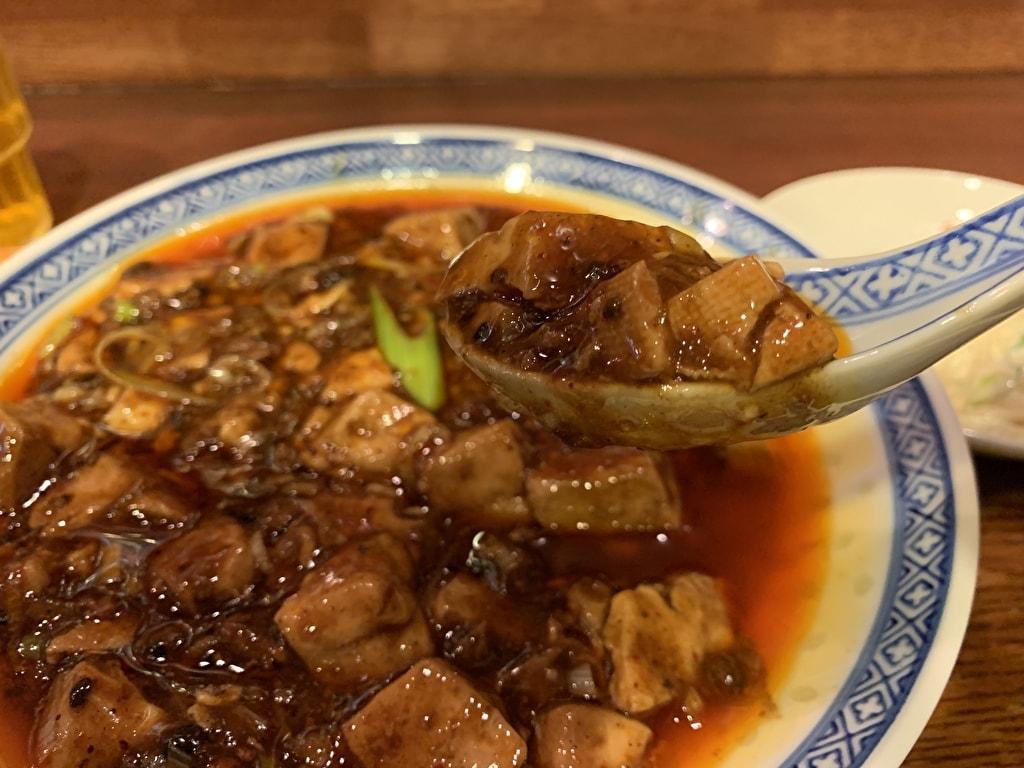 中国菜オイルの四川麻婆豆腐近影