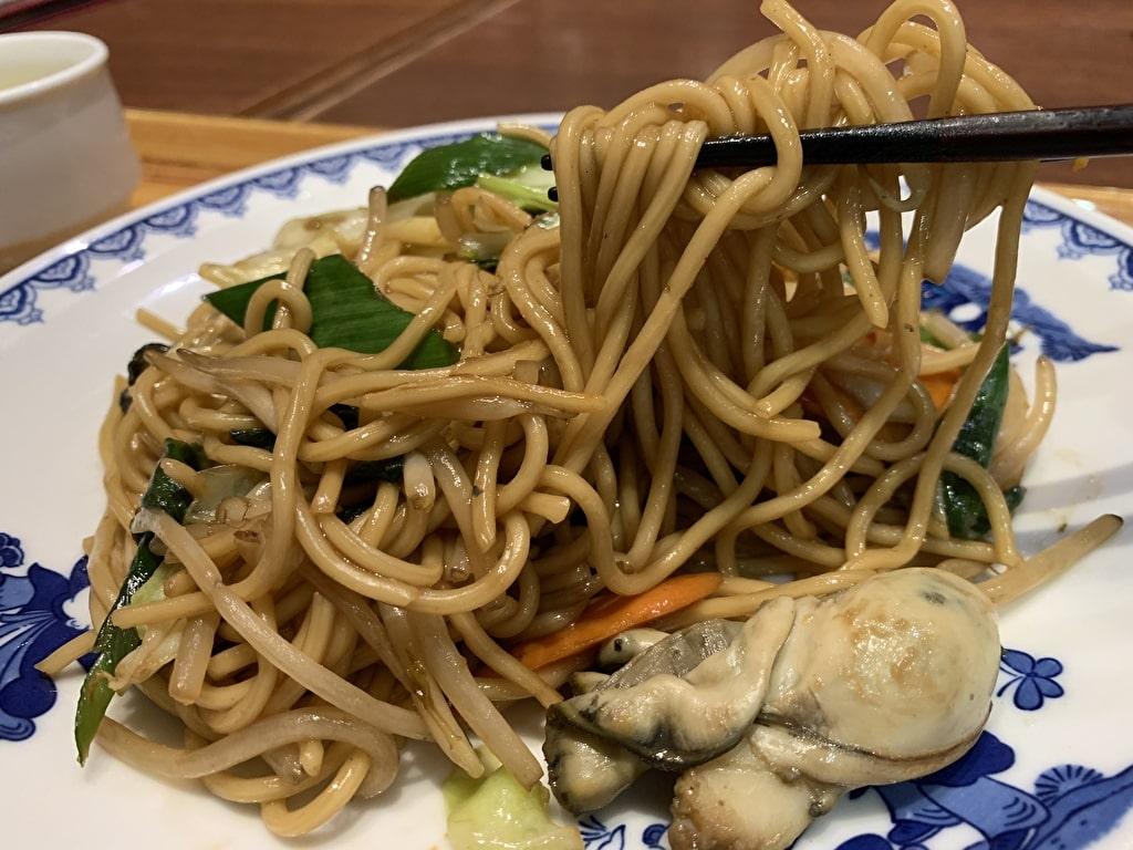 中華料理ハマムラの牡蠣のオイスターソース焼きそば実食