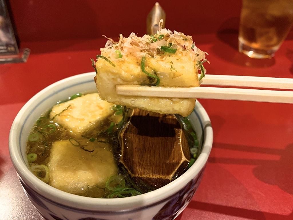 京都ハナビの揚げ出し豆腐実食