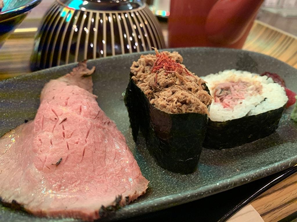 佰食屋肉寿司専科の肉寿司