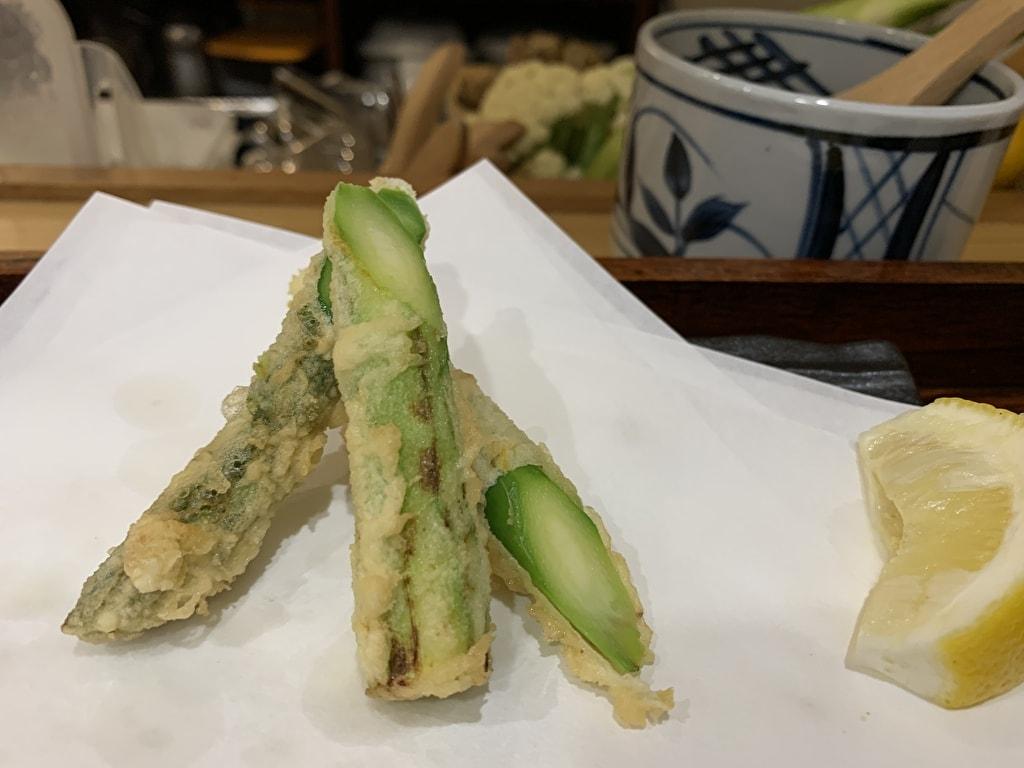 天ぷら処にしむらのアスパラガス