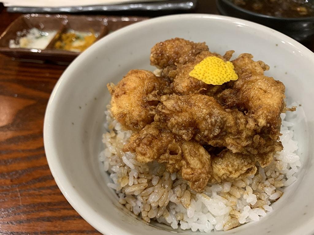 天ぷら処にしむらの小海老のかき揚げ丼