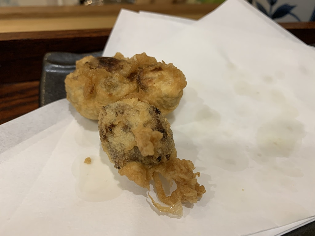 天ぷら処にしむらの菊芋