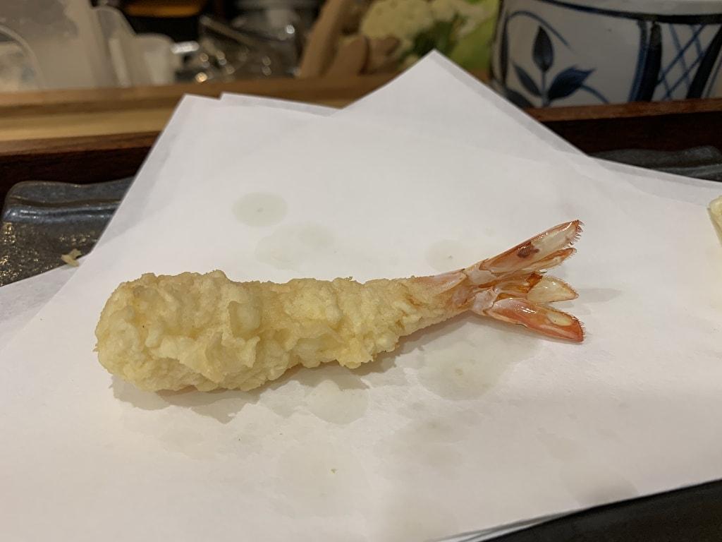 天ぷら処にしむらの車海老2回目