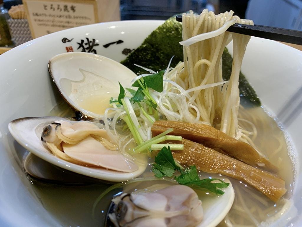 麺屋猪一の九十九里浜産蛤貝出汁そば実食