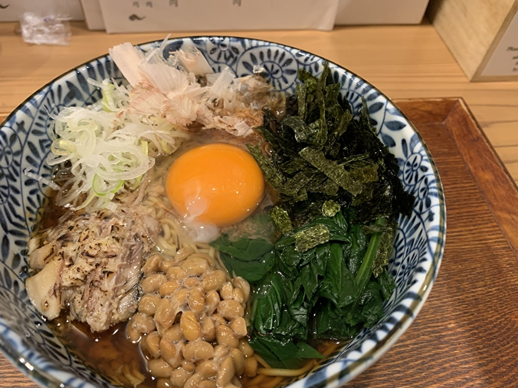 Menya Inoichi loin du bouillon de soupe de Kyoto soba