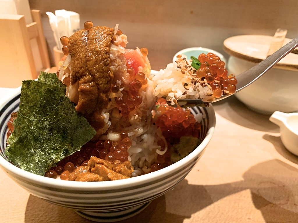 つじ半日本橋店のぜいたく丼実食1
