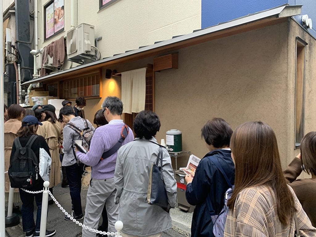 つじ半日本橋店の行列