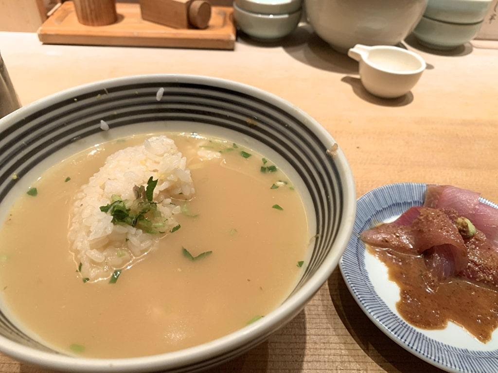 つじ半日本橋店の鯛茶漬け
