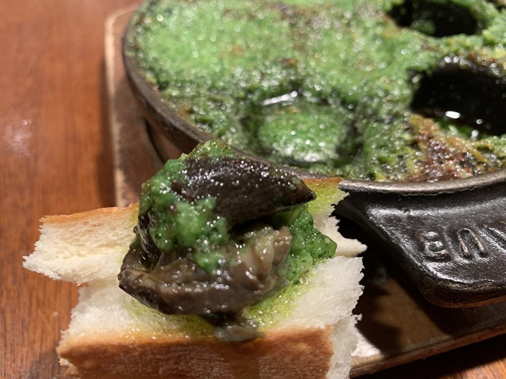 グリルキャピタル東洋亭本店のエスカルゴの香草ガーリックバター実食