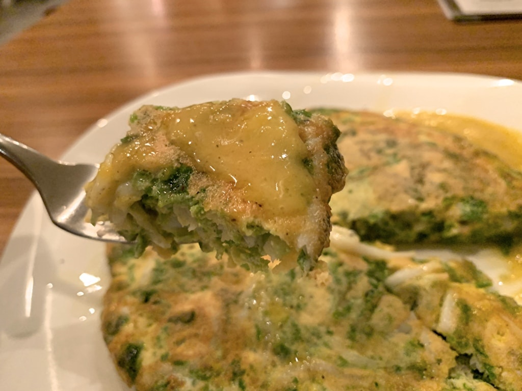 スケッチのしら魚と青のりのフリッタータ実食2