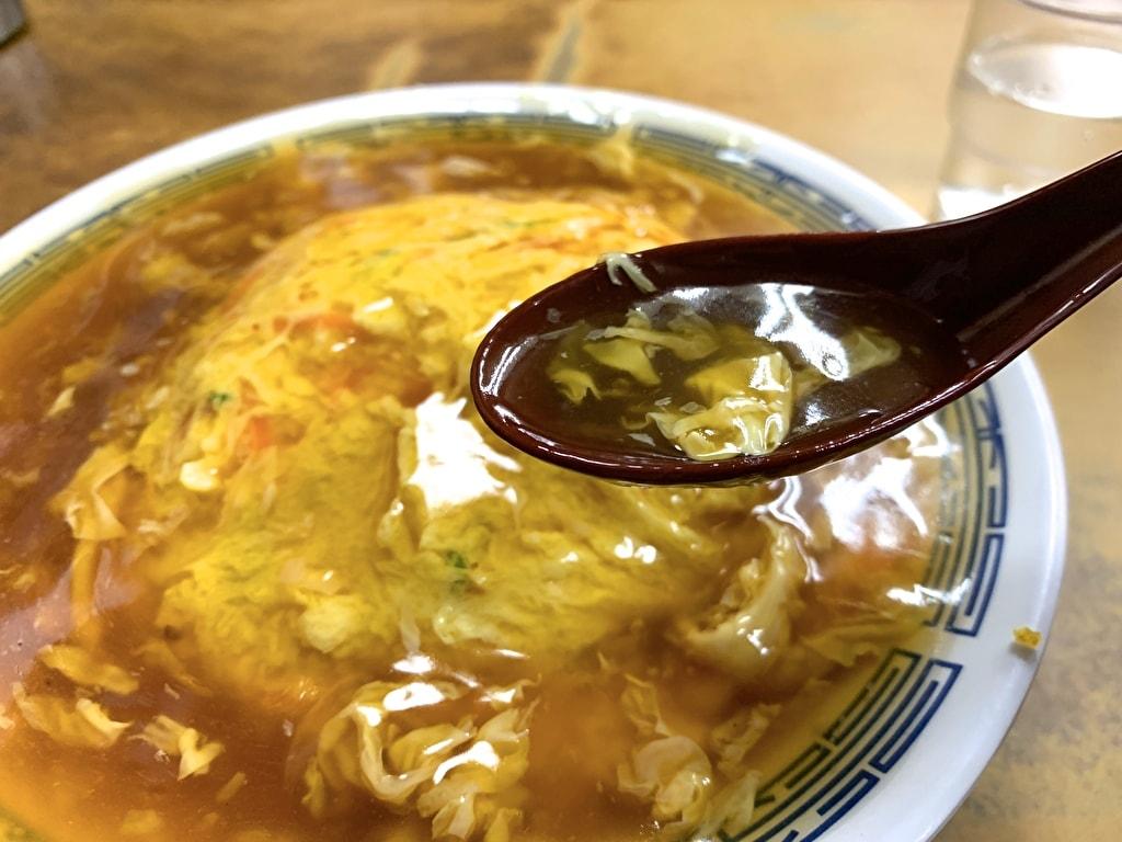 マルシン飯店の天津丼出汁