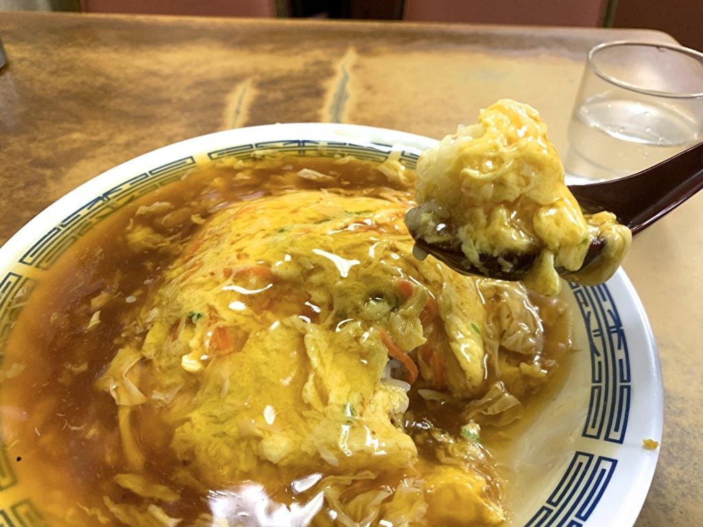 マルシン飯店の天津丼実食