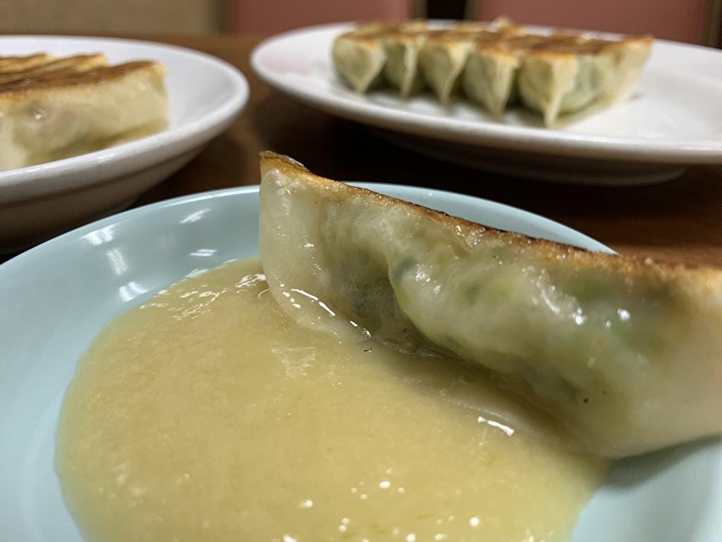 マルシン飯店 普通の餃子+餃子醬