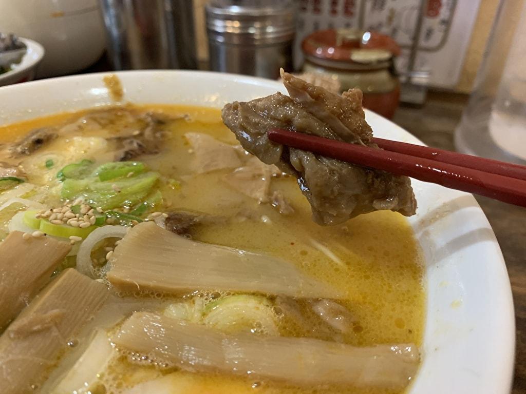 中華そば高安のスジラーメン牛スジ