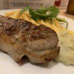 赤白新大阪店の仔羊のヘルシーステーキ-ブルーチーズ風味