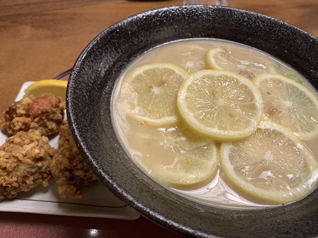 麺処むらじの檸檬ラーメン