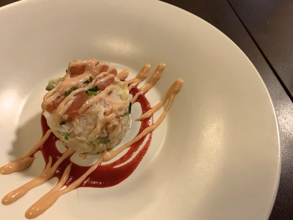 希味室町店の蟹とポテトのサラダ