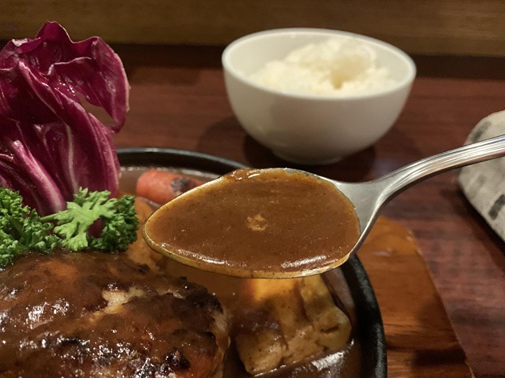 浅井食堂ハンバーグのデミグラスソース