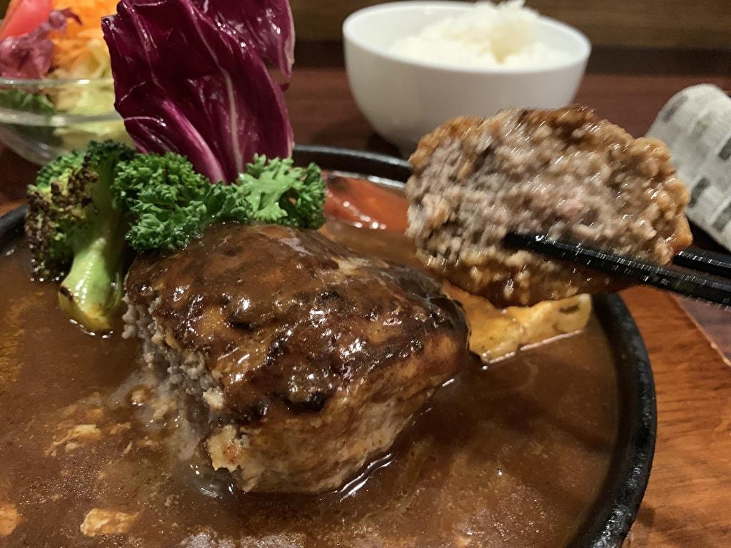 浅井食堂ハンバーグ実食