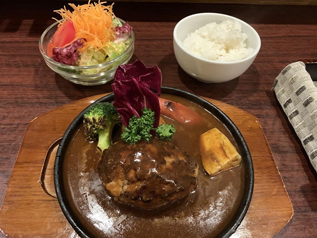 浅井食堂ハンバーグ
