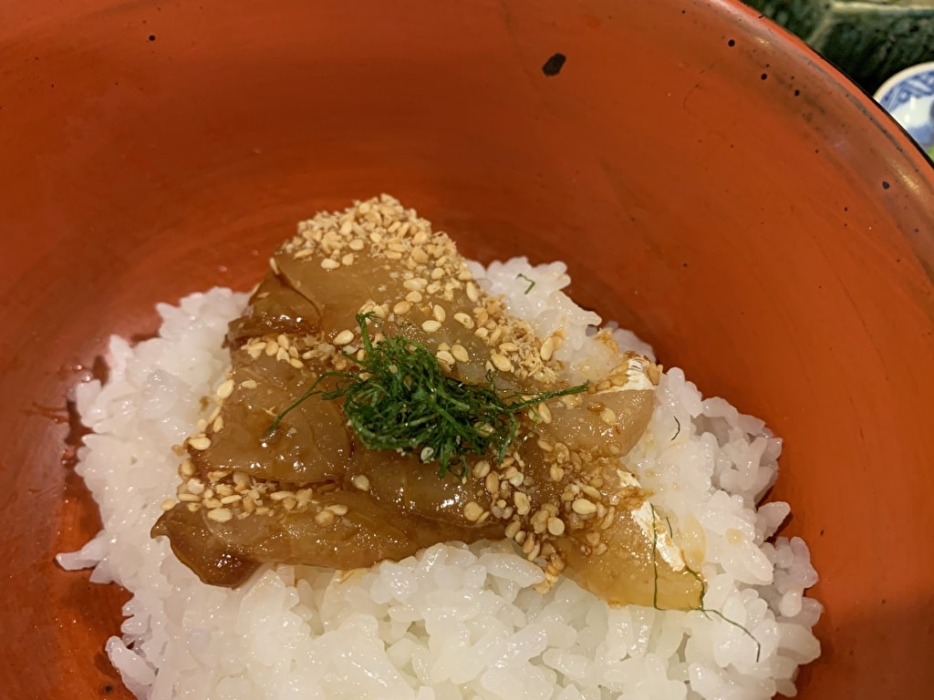 番屋燁の鯛茶漬け実食2