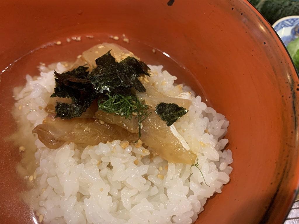 番屋燁の鯛茶漬け実食3