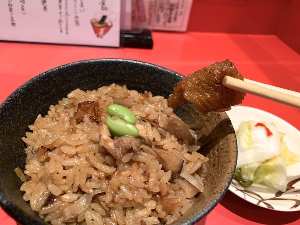 カドヤ食堂の鶏めし実食
