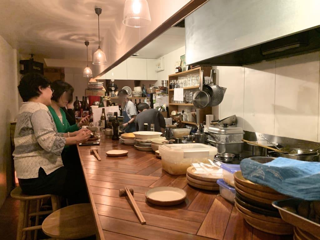 Dentro del restaurante Mambo