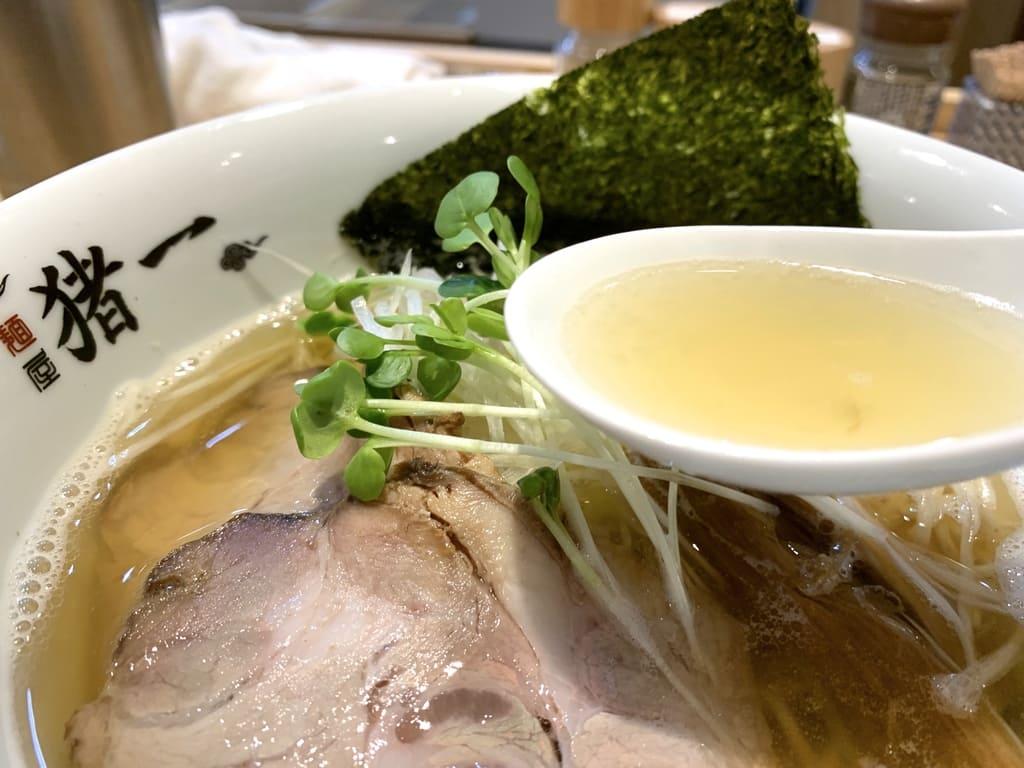 麺屋猪一の100%煮干し出汁そばスープ