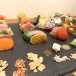 Close-up sushi karangan tangan AWOMB Karasuma Honten