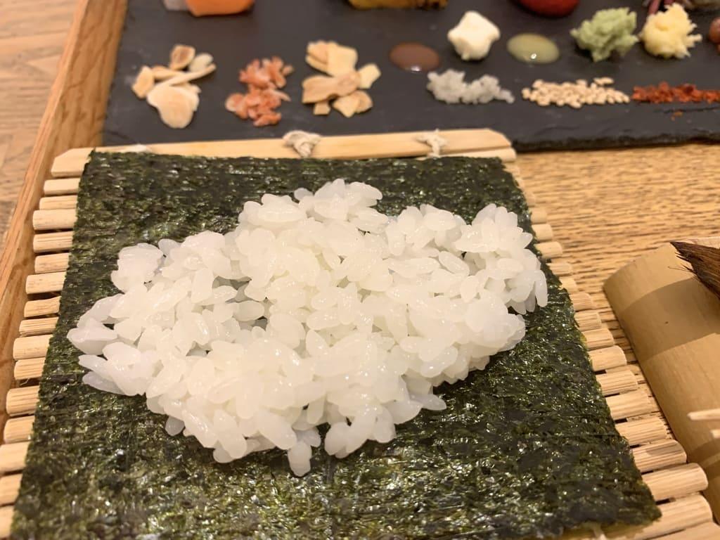 AWOMB烏丸本店の手織り寿司作り方2