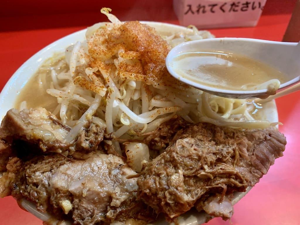 ラーメン池田屋のラーメンスープ