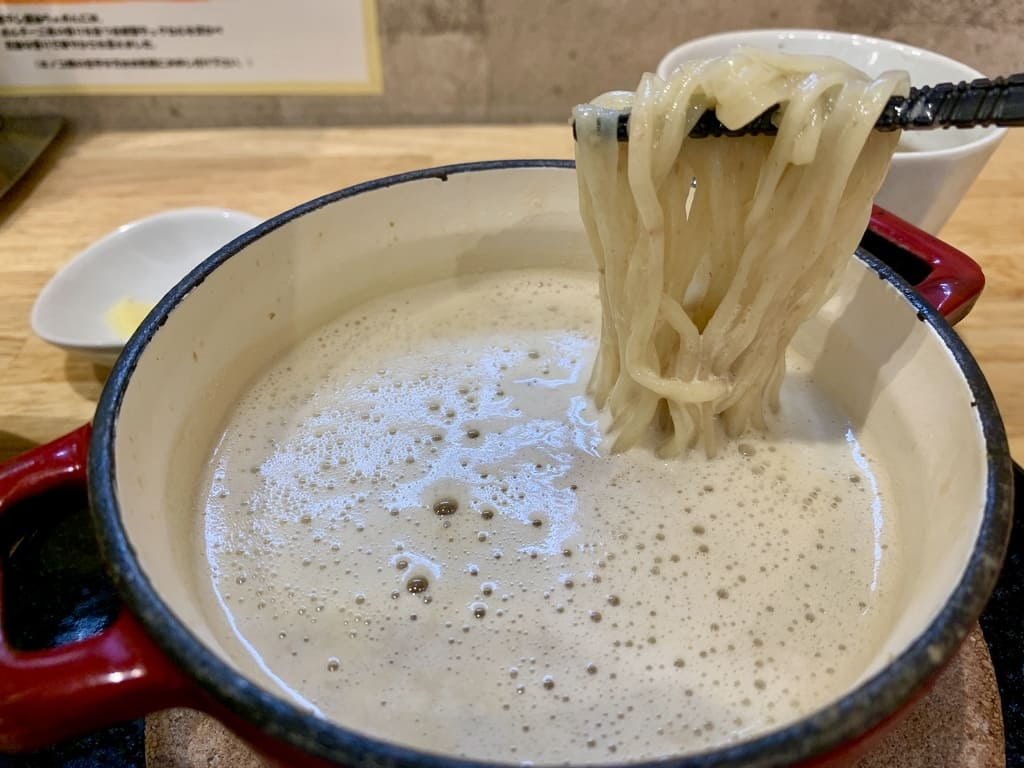麺屋獅子丸のポルチーニ茸のつけ麺実食