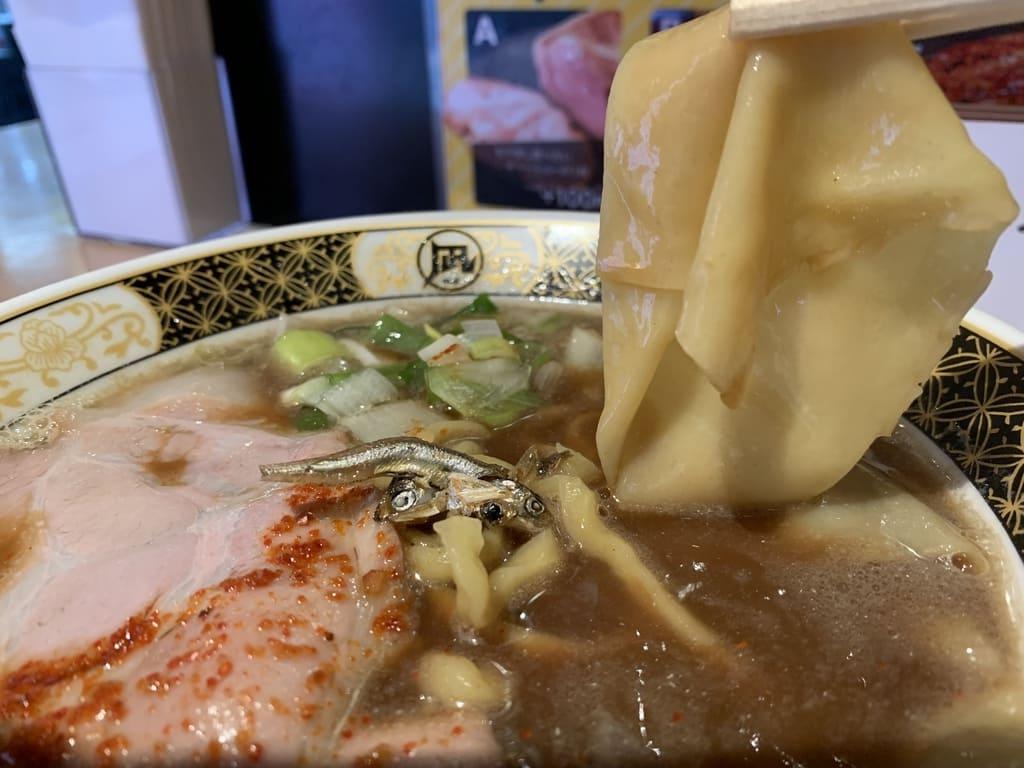 ラーメン凪のすごい煮干ラーメンいったん麺